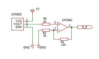 LM35DZ w/ LMC662CN